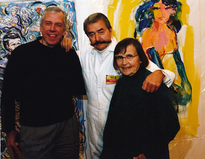 Artists Leroy Neiman & Ellen Lanyon