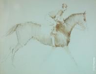 Untitled (Jockey on Horse Running)