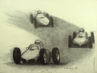 Untitled (Race Cars), 1961