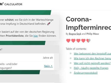 Corona-Impfterminrechner Online ab sofort