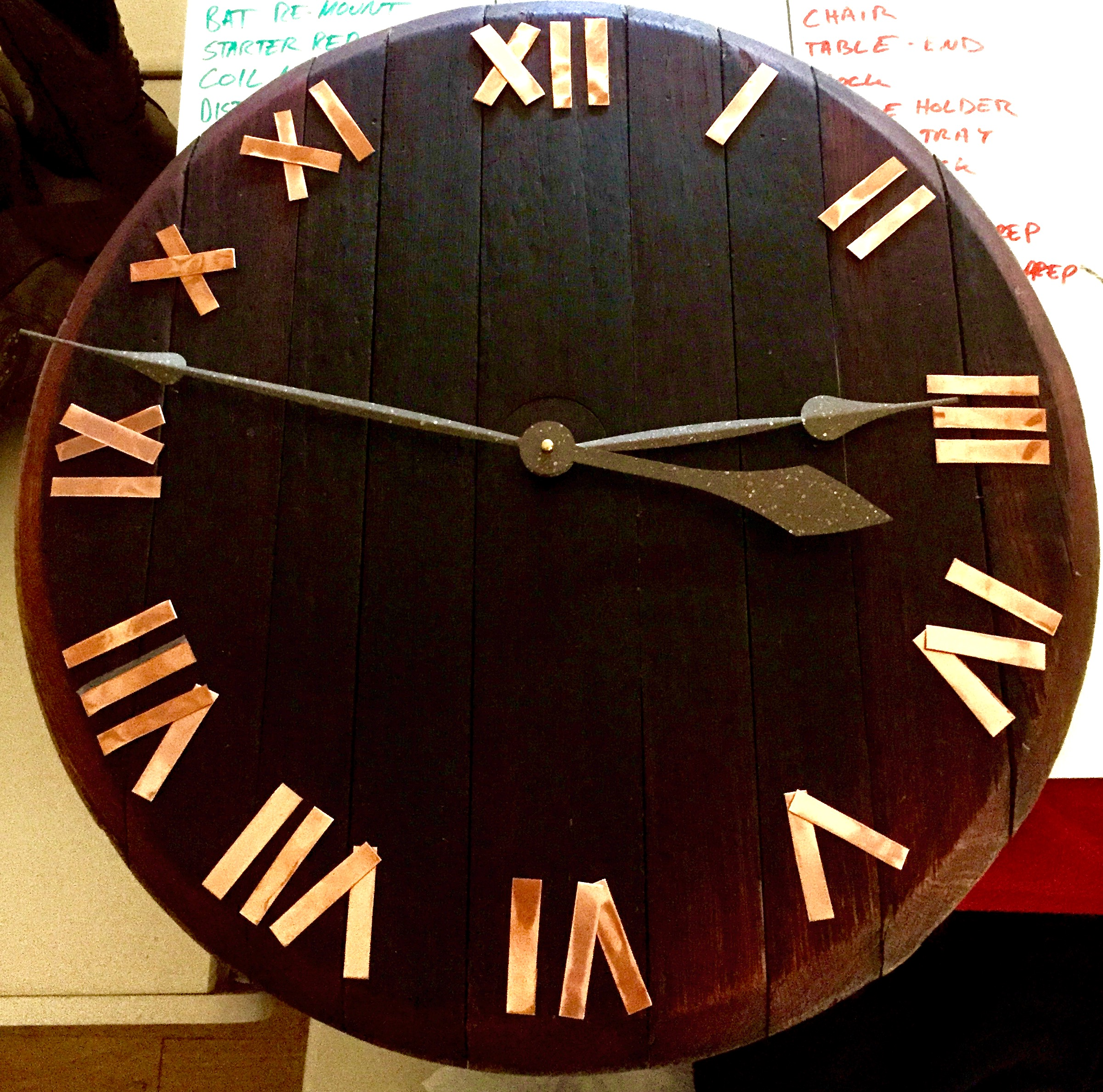 Barrel Head Clock