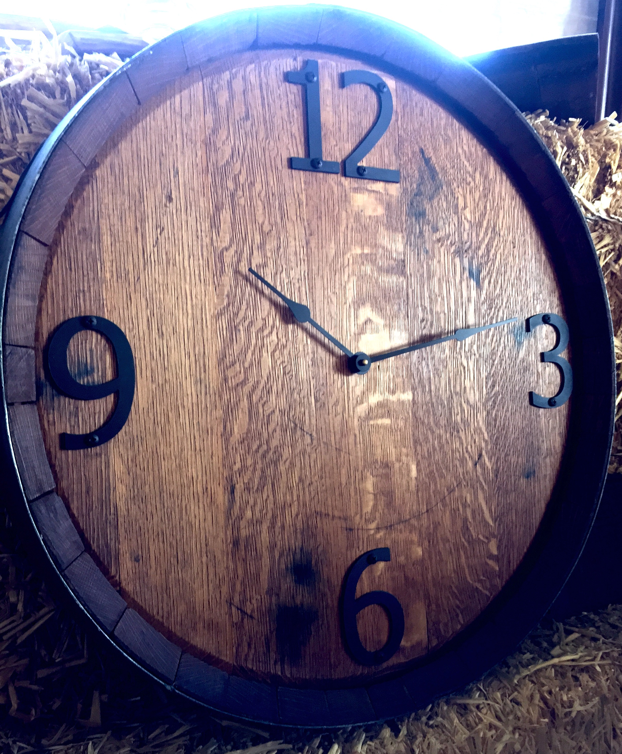 Full Barrel Head Clock