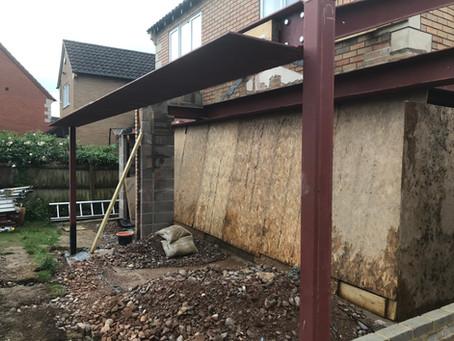 Site progress - 22 Kingsclere Drive - Bishops Cleeve - Cheltenham