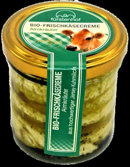 Bio Frischkäsecreme Almkräuter, 150g