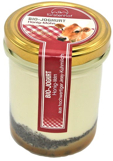 Bio Jersey Joghurt Honig Mohn, 210ml