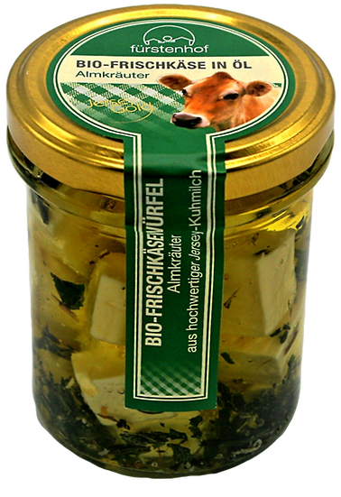 Bio Frischkäse in Öl Almkräuter, 200g