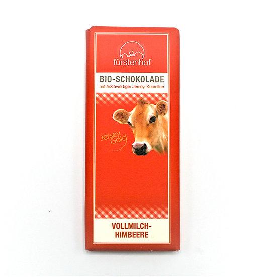 Bio JerseyGold Schokolade Vollmilch Himbeer, 70g