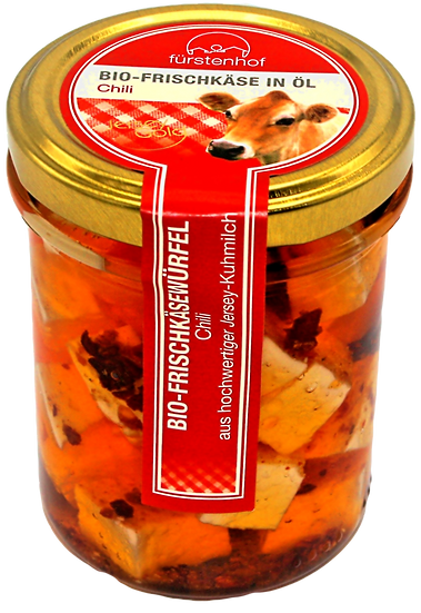 Bio Frischkäse in Öl Chili, 200g