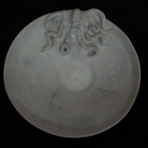 Grand plat Poulpe Nacré blanc