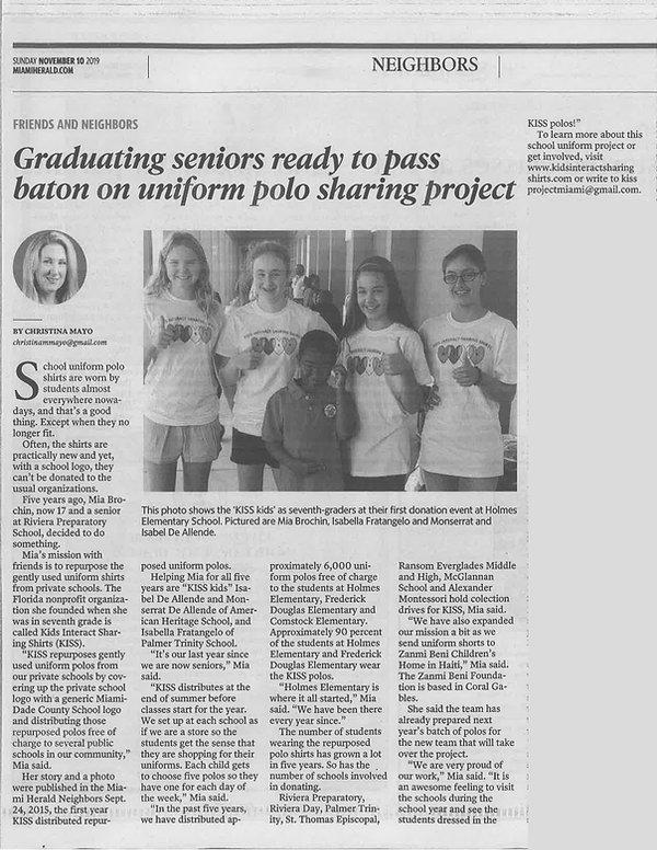 KISS Graduating Seniors (Miami Herald, N