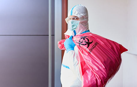 Cleaner when disposing of infectious was