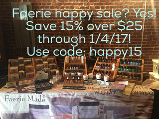 15% off sale thru 1/4/17 because ...