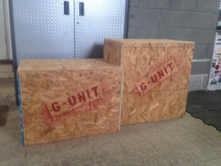 Box jumps for power.