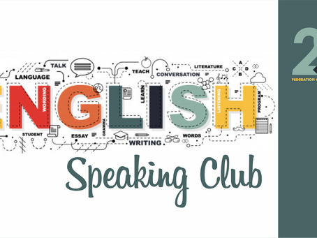 🥳English Speaking Club with FYCA! • Call for Participants!