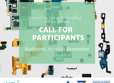 """Call for Participants!  Study Session """"Fighting for a Sustainable Digital Future""""  in Budapest!"""