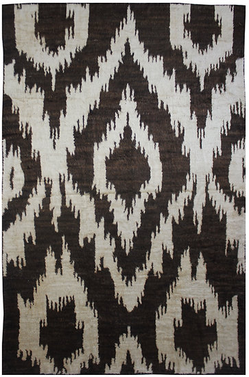 "Hand Knotted Ikat Rug - 10'5"" X 14'1"""