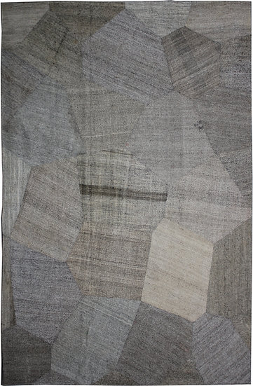 """Hand Knotted Antique Patchwork Kilim - 9'0"""" x 12'2"""""""