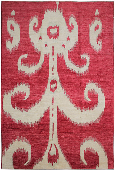 "Hand Knotted Ikat Rug - 9'3"" x 11'10"""
