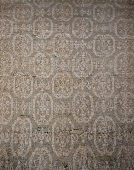 """Hand Knotted Ikat Rug  10'4"""" x 14'3"""""""