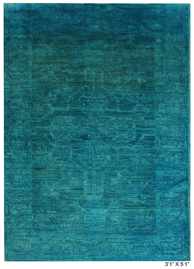 "Hand Knotted Over dyed Oushak  3'2"" x 5'11"""
