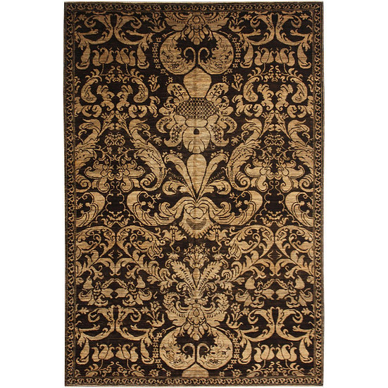 "Hand-Knotted Wool & Cotton Rug - 8'2"" x 5'8"""