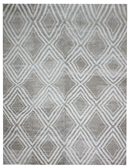 "Hand Knotted environmentally friendly Bamboo and silk rug - 10'0"" x 14'0"""