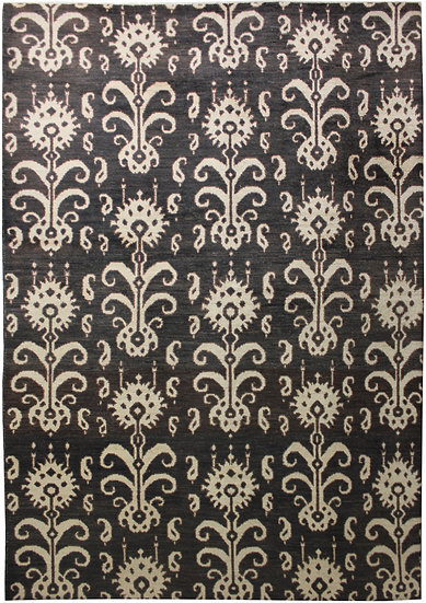 """Hand Knotted Ikat Rug - 11'6"""" X 14'4"""""""