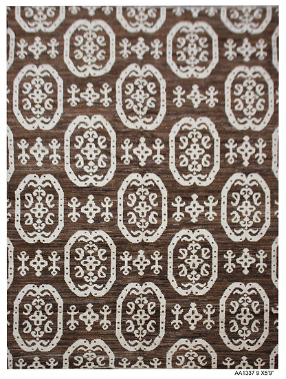 """Hand Knotted Ikat - 5'9"""" x 9'0"""""""