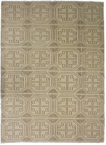 """Hand Knotted Modern Kilim by Aara Rugs Inc. - 6'10"""" X 9'5"""""""