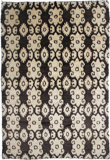 "Hand Knotted Ikat Rug 7'4"" x 9'8"""