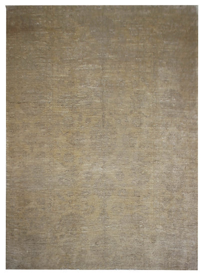 """Hand Knotted Natural Wool Oushak Rug.  11'10"""" x 14'3"""""""