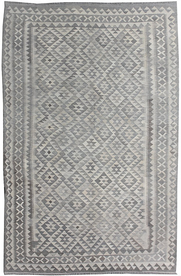 "Hand Knotted Wool & Cotton Kilim  6'10"" x 10'1"""