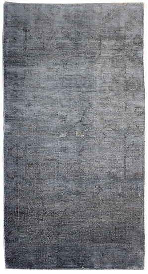 """Hand Knotted Overdyed Fine Oushak 4'0"""" x 7'6"""""""