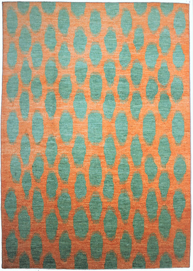 """Hand Knotted Ikat Rug - 10'1"""" X 13'3"""""""