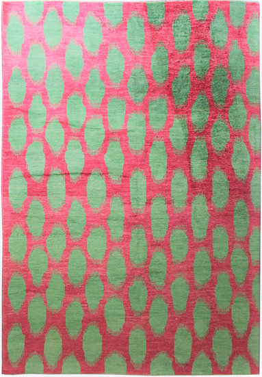 """Hand Knotted Ikat Rug - 9'7"""" x 11'11"""""""