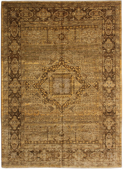 "Hand-Knotted Wool & Cotton Rug - 7'2"" x 5'6"""