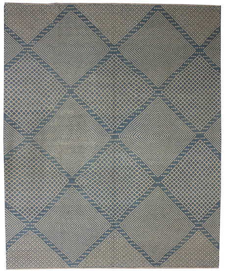 "Hand Knotted Modern Kilim  - 8'4"" X 9'5"""