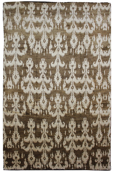 """Hand Knotted Ikat Rug - 9'2"""" x 12'7"""""""