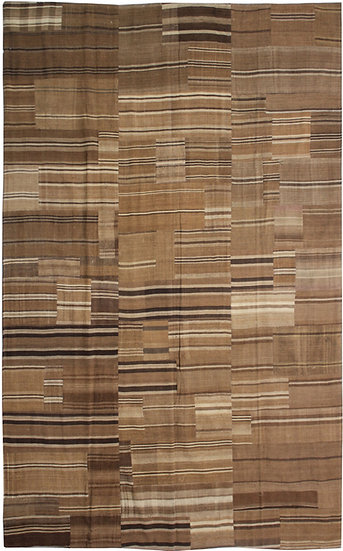 """Hand Knotted Antique Patchwork Kilim - 6'7"""" x 9'11"""""""