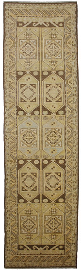 """Hand Knotted Wool & Cotton Runner 3'3"""" x 12'0"""""""