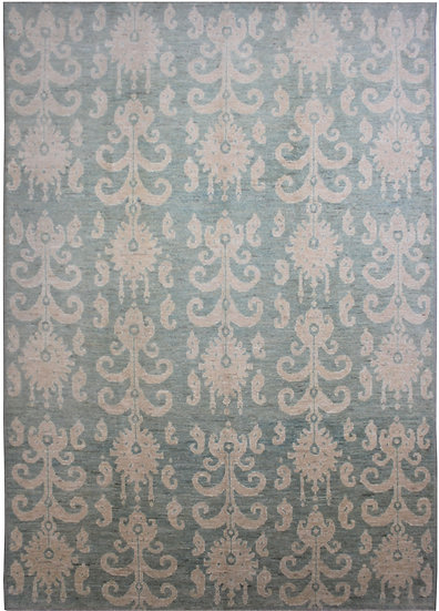 """Hand Knotted Ikat Rug - 10'2"""" X 14'4"""""""