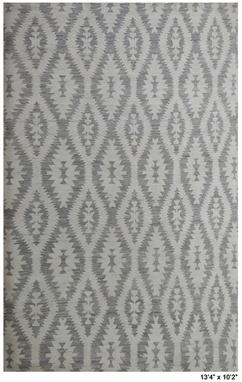 "Hand Knotted Modrn Navajo Rug 10'2"" x 13'4"""