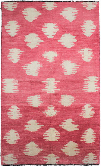 "Hand Knotted Ikat Rug - 10'0"" X 6'1"""