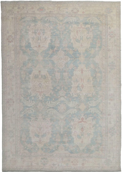 """Hand Knotted Fine Oushak Rug - 12'9"""" X 9'2"""""""