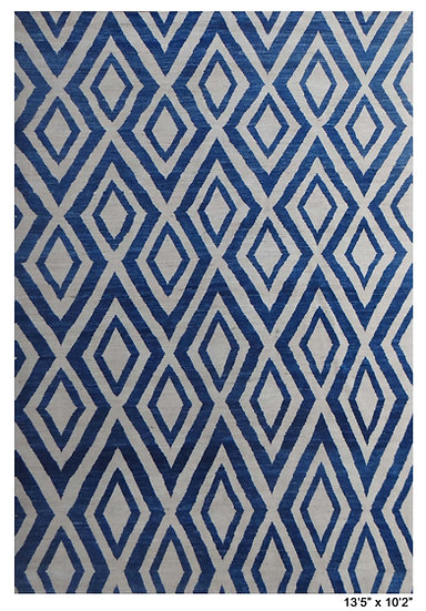 """Hand Knotted Modern Navajo Rug. 10'2"""" x 13'5'"""