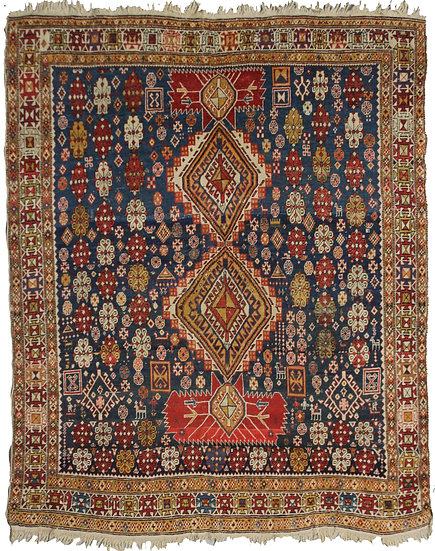 "Hand Knotted Antique Sharawan Rug - 5'9"" X 5'0"""