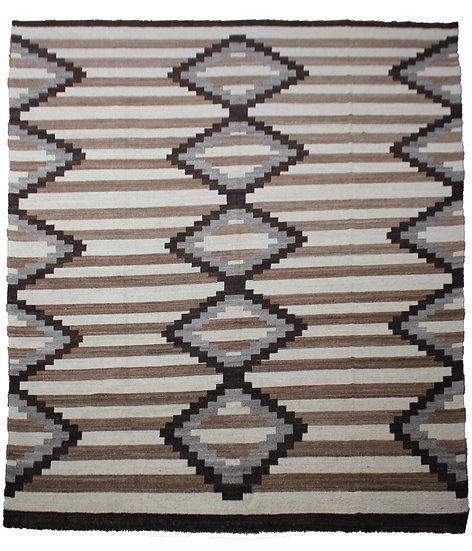 Hand Knotted Navajo Rug  - 10′7″ × 14′1″