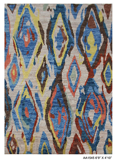 """Hand Knotted Modern Moroccan Rug. 4'10"""" x 6'9"""""""