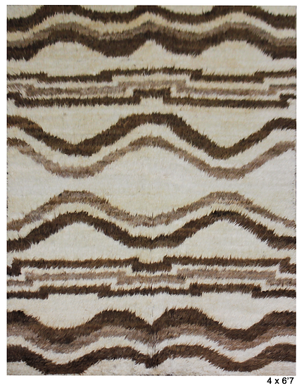 "Hand Knotted Navajo Rug - 4'0"" x 6'7"""