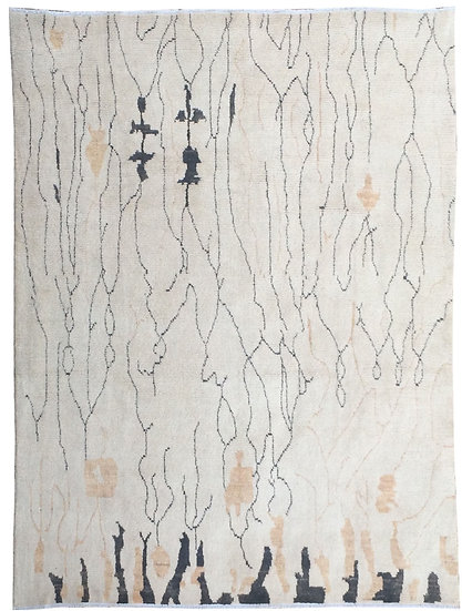 """Hand Knotted Moroccan Rug  - 13'6"""" X 9'7"""""""
